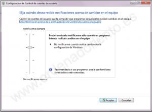 Windows7 desactivar UAC