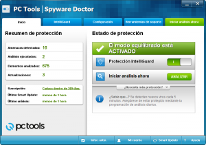 spyware doctor menu