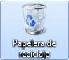 El icono de la papelera de reciclaje
