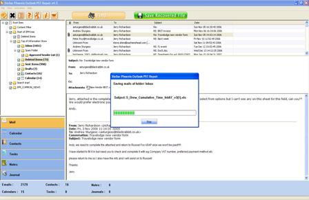 reparar pst archivos