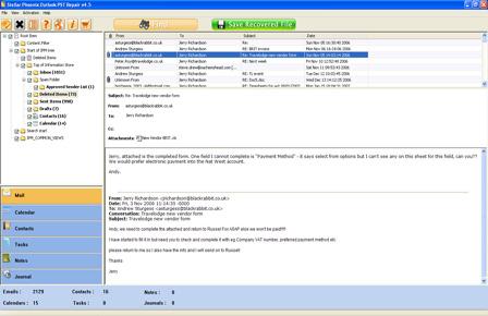 recuparar y reparar PST archivos